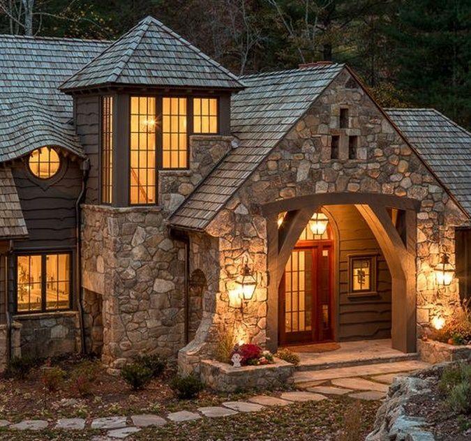 Pin de arely en navidad pinterest house home y cabin for Fachadas de casas modernas y rusticas