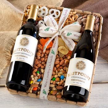 Nut and Wine Basket.  See more at www.pro-gift-baskets.com!