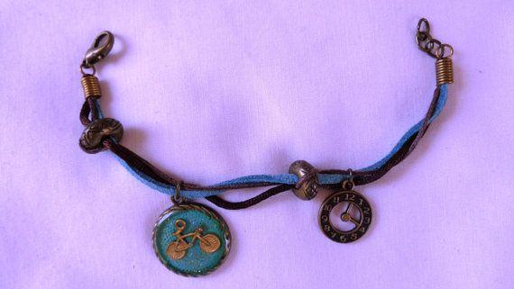 Suede faux cord braceletspendant suede faux by ArtisticBreaths