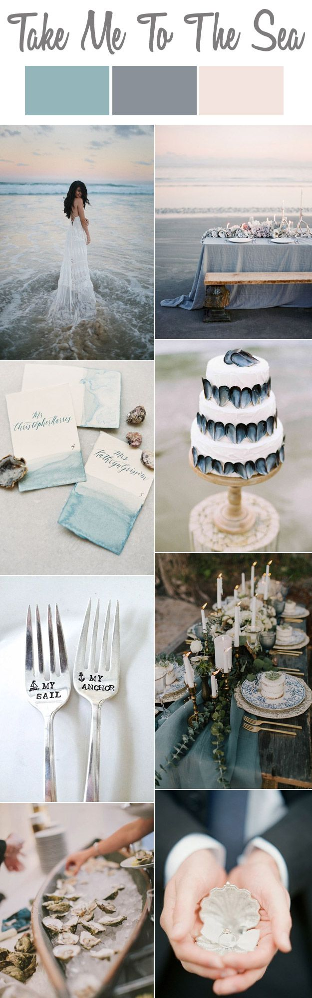 Me To The Sea: A Pastel Seaside Wedding Story    Lucky in Love Blog