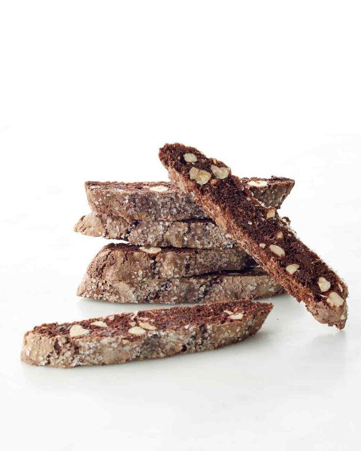 Chocolate-Hazelnut Biscotti ~ via www.marthastewart.com/1129608/chocolate-hazelnut-biscotti