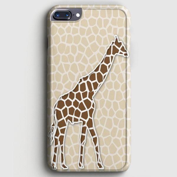 Giraffe Background Pattern iPhone 8 Plus Case   casescraft