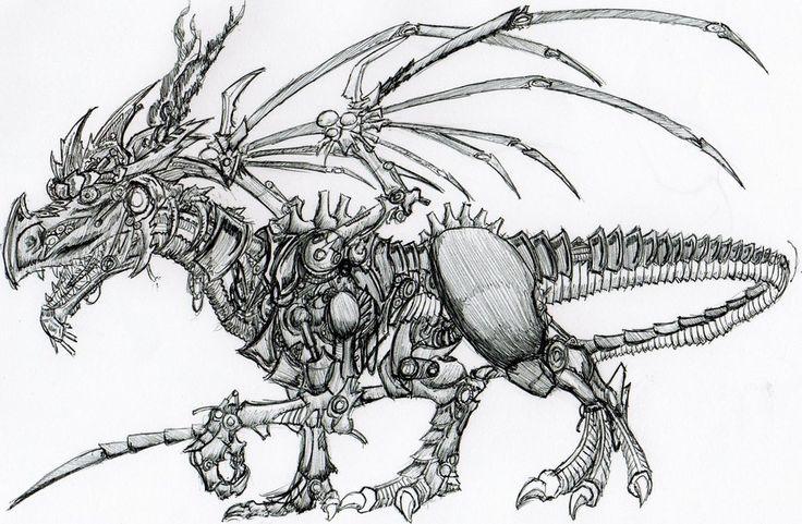 Robot dragon! by Basalisk120
