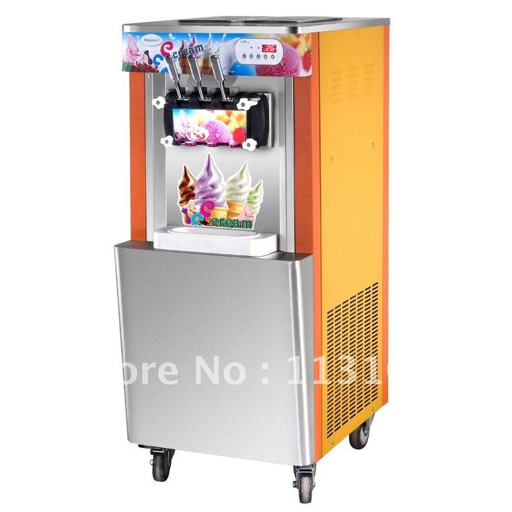 1173.00$  Watch here - http://aliy5r.worldwells.pw/go.php?t=607718999 - 3 Heads, Ice cream output 32~35 liters/hour, Floor Standing Ice Cream Machine / Sundae  Maker / Ice Cream Making Machine 1173.00$
