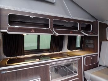 VOLKSWAGEN TRANSPORTER CAMPER T28 TDI TRENDLINE Toffee Brown Metalic Campervan conversion with AIR CONDITIONING for sale from Venture Campers Northamptonshire
