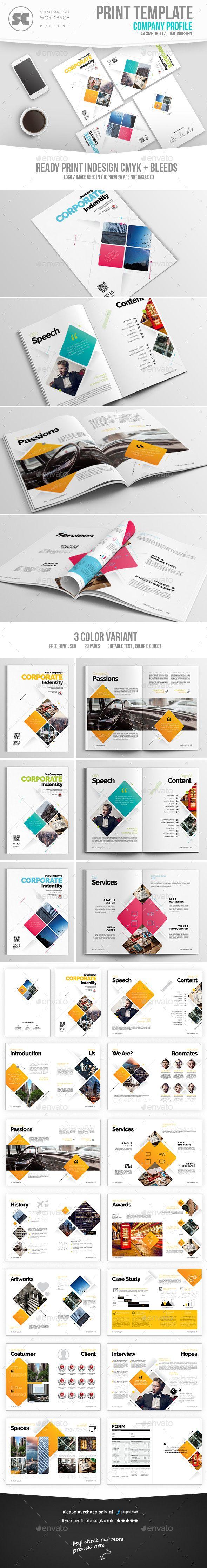 Modern Company Profile - #Corporate #Brochures Download here: https://graphicriver.net/item/modern-company-profile/19511752?ref=alena994