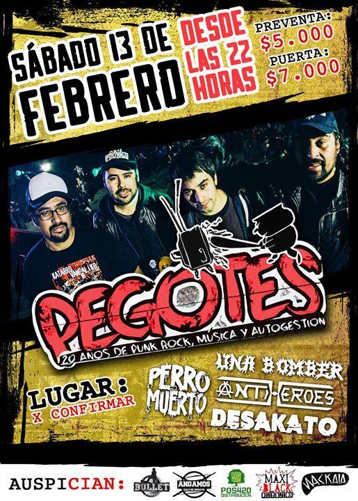 Tenemos Punk Rock, Pegotes por 1era vez en Pta Arenas – Heyevent.com