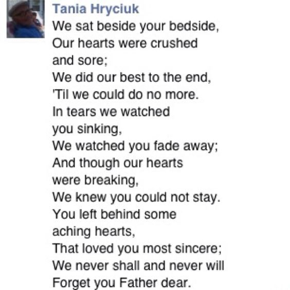 Losing A Father To Cancer Quotes: Poem For My Dad After He Passed Away From Cancer