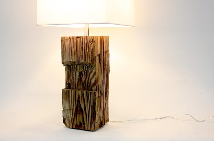Reclaimed Wood Lamp Barn Wood Lighting Rustic