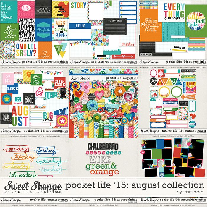 Pocket Life '15: August Collection by Traci Reed Designs – Plus a FREEBIE! – Traci Reed Designs