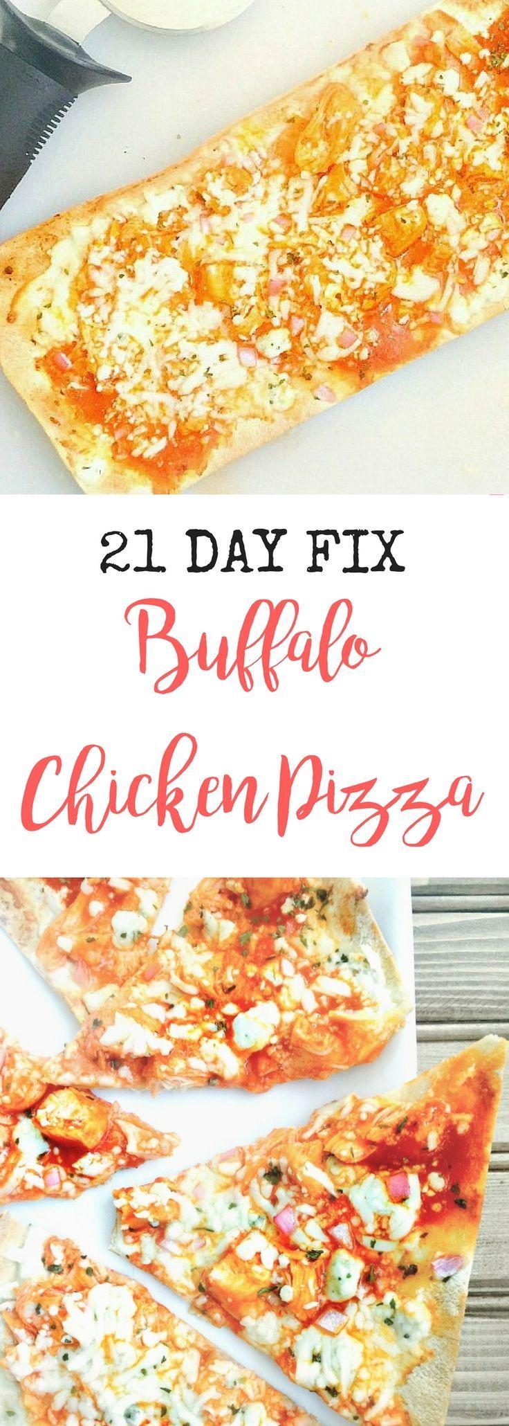 21 Day Fix Buffalo Chicken Pizza