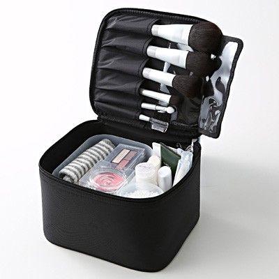 Nylon Makeup Box S, black, $20 | Muji
