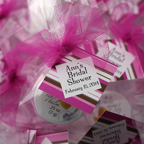 """Saying """"I don't"""" to boring bridal shower favors? We can help! Our lip balms make perfect bridal shower gifts for guests with custom designs and colors that will perfectly match for your event's theme and colors. Talk with us about incorporating your unique ideas and special details into your bridal shower gifts for guests!"""