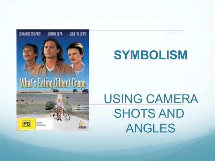 SYMBOLISM USING CAMERA SHOTS AND ANGLES