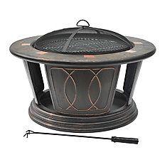 34-inch Round Outdoor Fire Pit