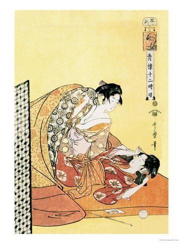 The Hour of the Dragon Julisteet tekijänä Kitagawa Utamaro AllPosters.fi-sivustossa