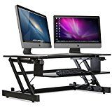 Stand Up Desk Height Adjustable - New 2017 With Unlimited Standing Height Settings Positions   2-Tier Desk... Casiii's 2017 SX32 YOUR Affordable Solution for Healthy Movement Throughout the DayPlace https://thehomeofficesupplies.com/stand-up-desk-height-adjustable-new-2017-with-unlimited-standing-height-settings-positions-2-tier-desk-riser-with-dual-monitor-capability-32-wide-with-keyboard-tray-sx32-by-casiii-black/