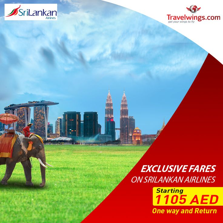 Get advantage of this exclusive promo from Srilankan Airlines Dubai on flights to #KualaLumpur, #Bangkok & #Singapore starting 1105 AED only. Limited time only!  http://www.travelwings.com/special-offers/srilankan-airlines-flights-1105.aspx