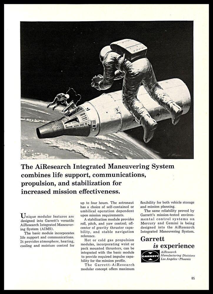 1965 Garrett Airesearch Vintage Print Ad Aerospace Manufacture