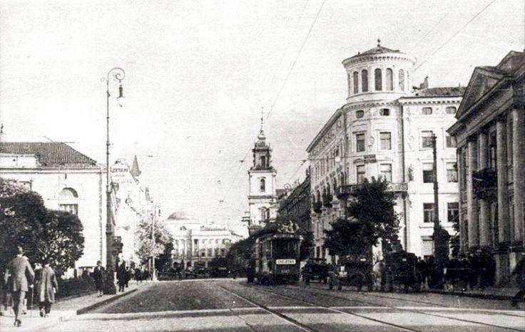 Warszawa - Krakowskie Przedmieście ok. 1925 r.