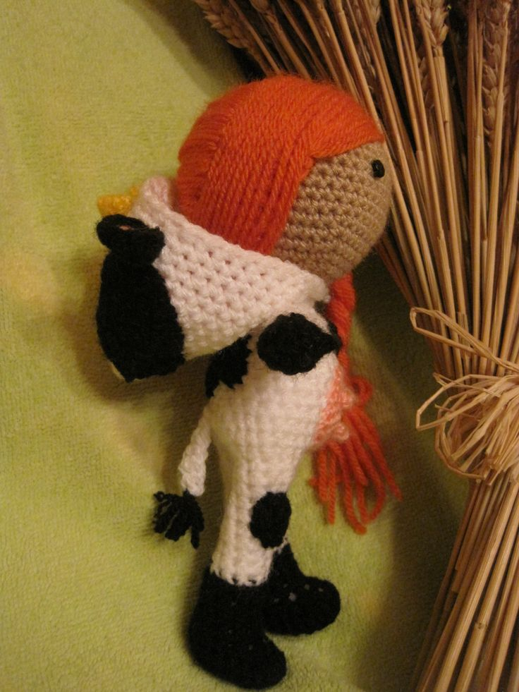 Amigurumi nino/a disfrazado de vaca (se puede personalizar ...