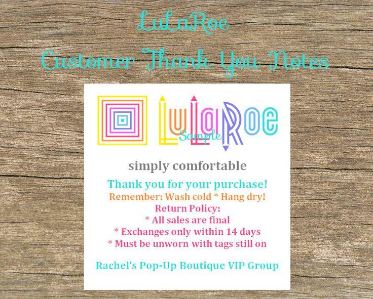 30 best LuLaRoe Consultants images on Pinterest Lularoe - customer thank you letter