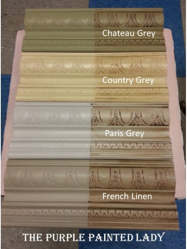 annie sloan country linen | French Linen Chateau Grey Paris Grey Comparing The Purple Painted Lady ...