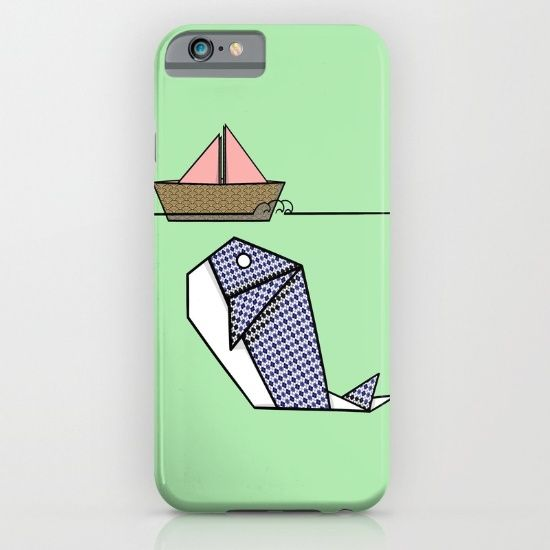 Origami Whale Moby Dick device case design