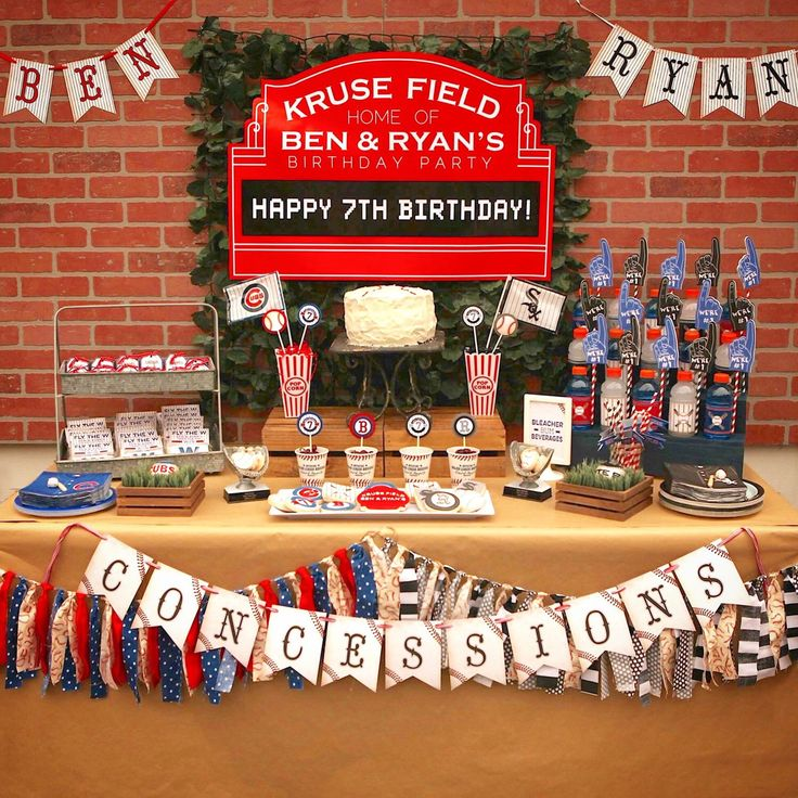 Chicago Cubs Party from my Etsy shop https://www.etsy.com/listing/501213685/baseball-concessions-printable-banner
