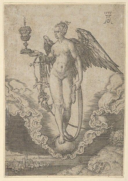 Fortune - Heinrich Aldegrever (after Albrecht Dürer) - 1555 - Engraving
