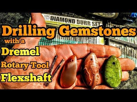 Drill a hole in precious stones with the Dremel rotary tool or flexible shaft – YouTube   – stone work