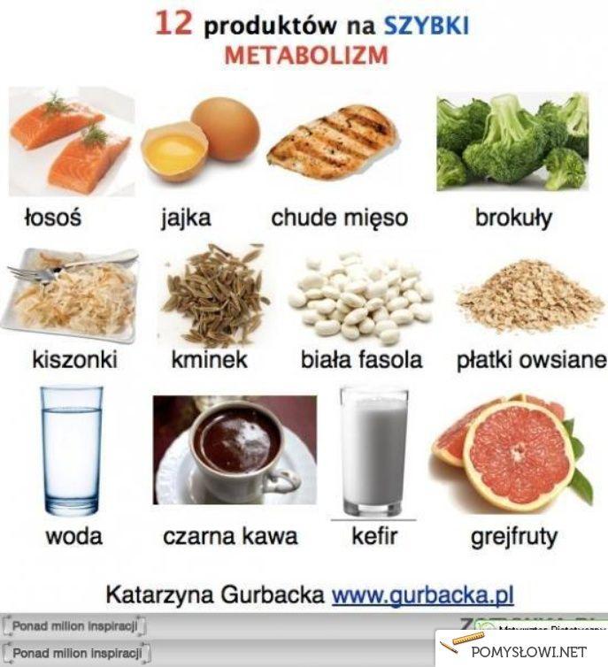 12 produktów na szybki metabolizm