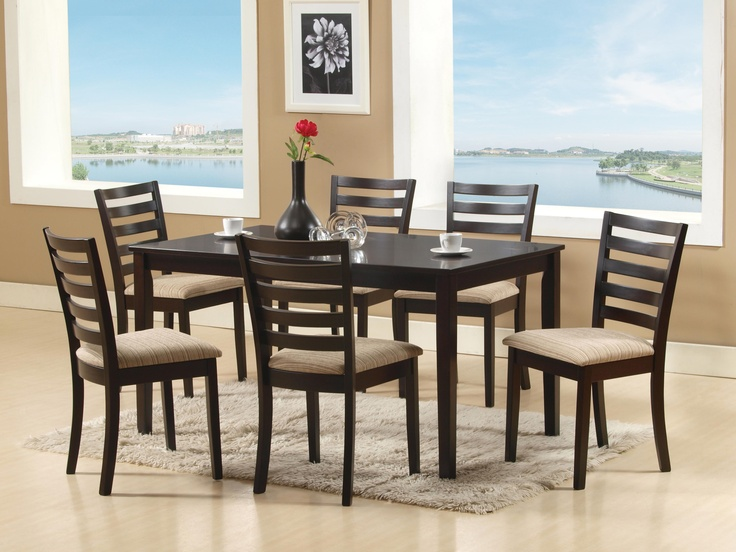 NEW OCEAN DINING SET - This classic look will definitely go well with a spacious dining setting yet also fits perfectly into a small cozy space; 6 Seater; PRICE: Rs 35000/-; Buy now: http://tfrhome.com/landing/productlandingpage.php?product_code=ds-02