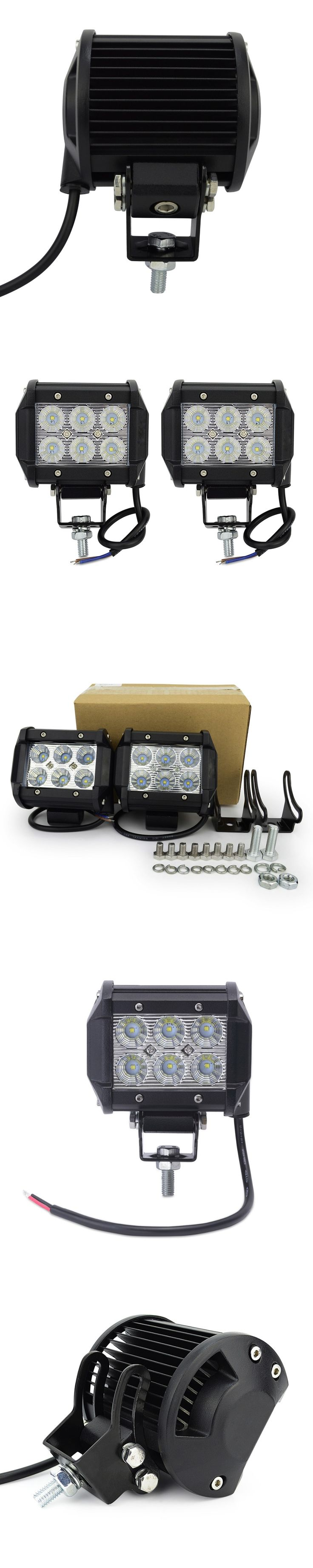 1pcs 4inch motorcycle led work light led 18w  led offroad light bar off road 4X4 ATV for truck car motorcycle Boat tractor truck