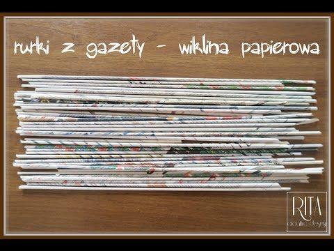 JAK ZROBIĆ RURKI Z GAZETY | wiklina papierowa| Πώς να φτιάξετε καλαμάκια από εφημερίδα - YouTube