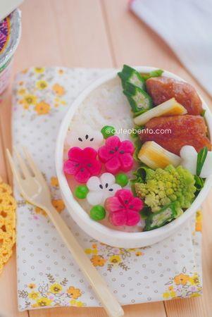 Flower pickles bento