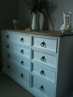 repainted mexican pine furniture
