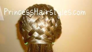 Basket Weave Hairstyle Design Hair4myprincess, via YouTube.