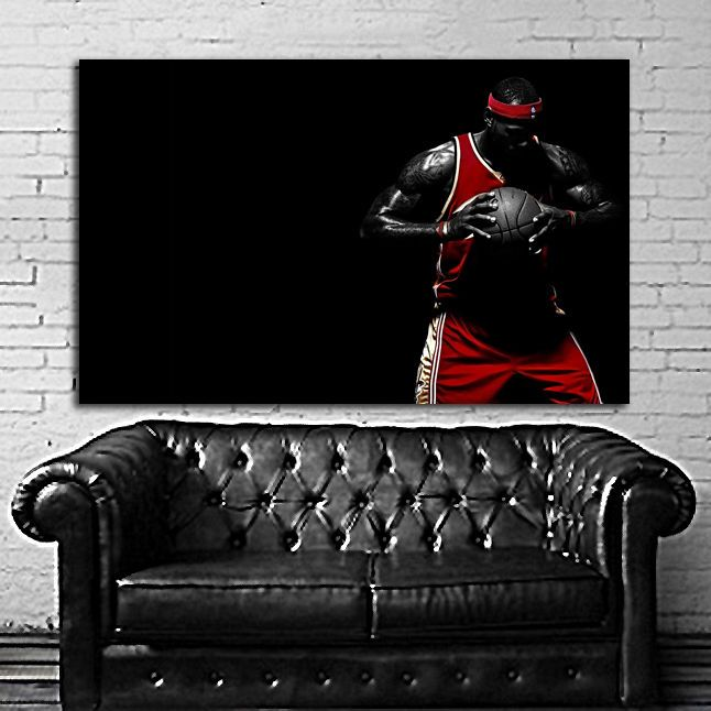 Poster Mural Lebron James Nba Basketball X Inch X Cm Mil Paper With Grand Poster Mural