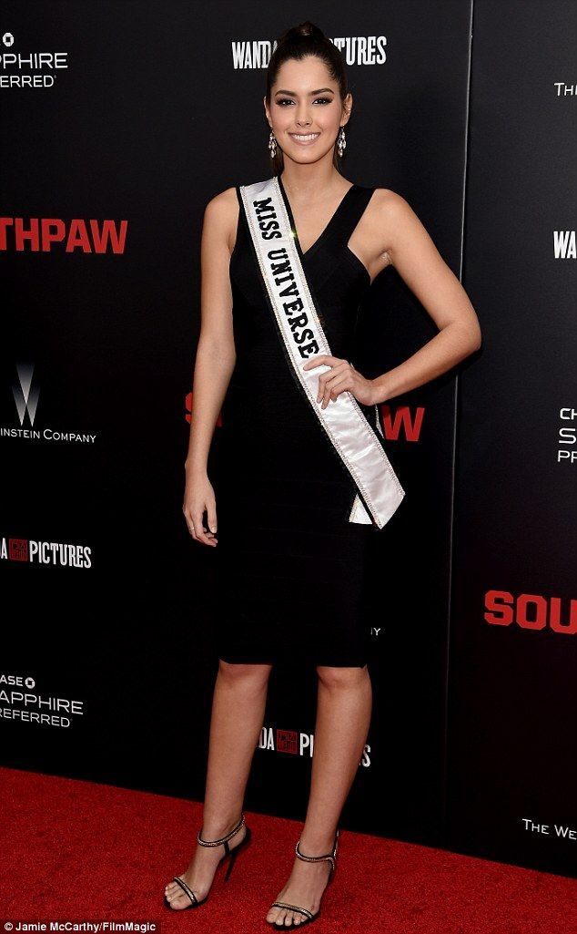 Pageant princess: And Paulina Vega - displaying her Miss Universe 2014 sash - paraded her ...