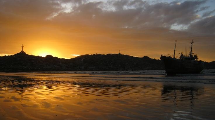 Playa Changa mirando hacia Coquimbo. Foto de Juan Francisco Amenábar.