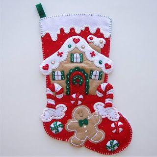10 Moldes para hacer bonitas botas navideñas en fieltro ~ lodijoella