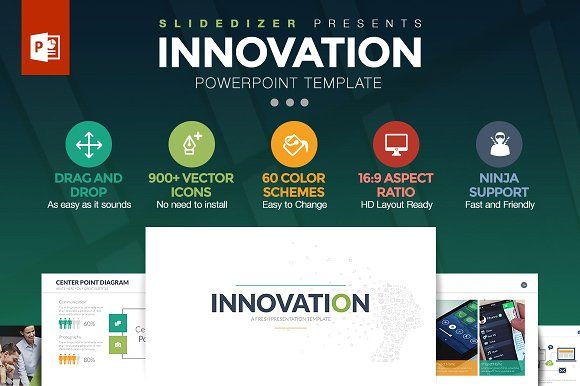 Innovation Powerpoint Template by Slidedizer on @creativemarket