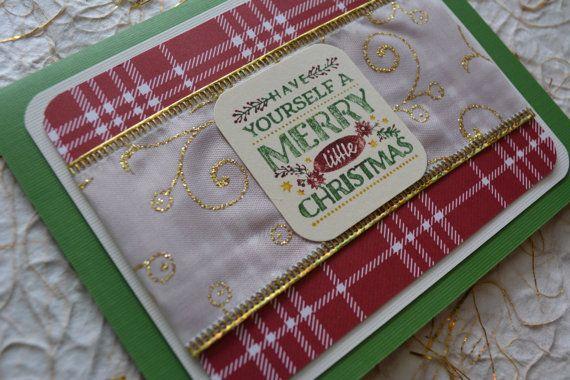 Christmas Card Handmade Card Merry by CraftyCarolynsCards on Etsy