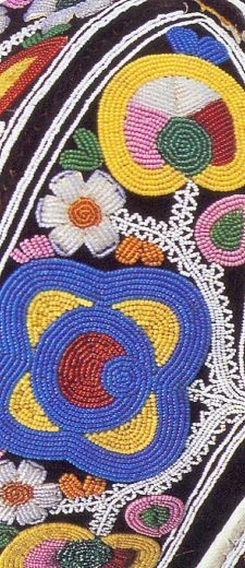 Mary Ann Geneace, detail of Mi'kmaq cape, late 19th c. new Brunswick Museum Collection.