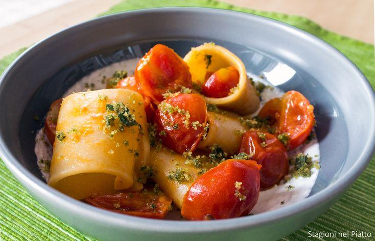 Pasta di prim'ordine, pomodorini, burrata freschissima e basilico: ingredienti semplici per un primo piatto gustosissimo e perfetto per l'estate