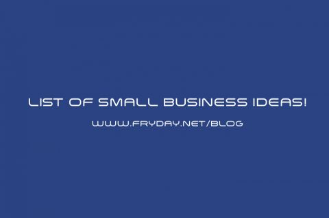 List Of Small Business Ideas