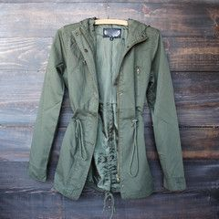 Olive Green Parka Jacket