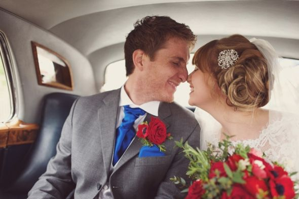 Hollie & Darren, in one of our Classic Rolls Royce Silver Cloud's