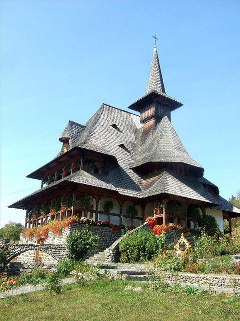 Barsana Wooden Monastery, Maramures, Romania